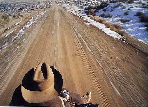 Cowboy in Pickup