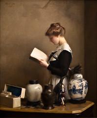The Housemaid, William McGregor Paxton, 1910 (Tiz_herself) Tags: art painting washingtondc museums paxton corcoran corcorangalleryofart bostonschool williammcgregorpaxton