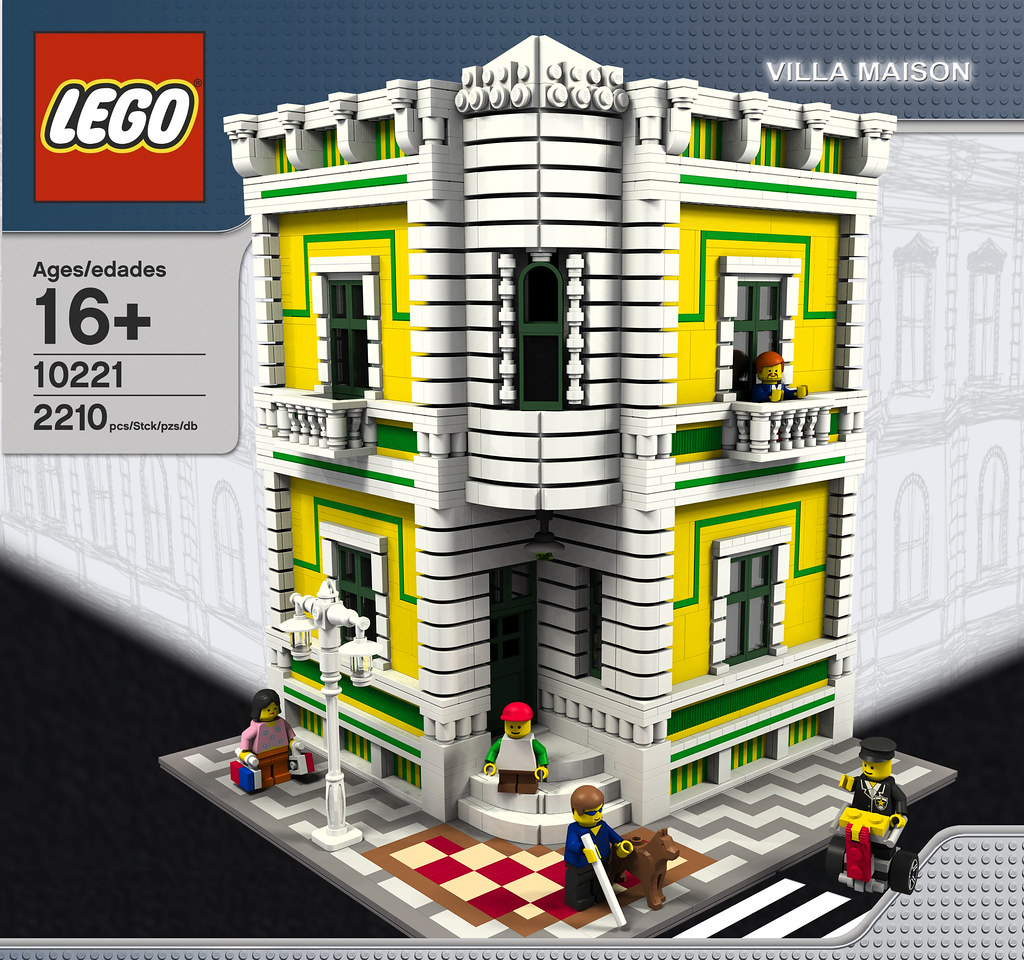 Moc villa maison modular building lego town eurobricks forums - Lego construction maison ...