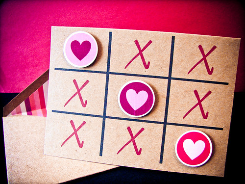 Valentine's Day Tic-Tac-Toe Card