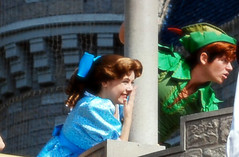 Peter Pan and Wendy Darling (CaseyCotter) Tags: world boy classic face flying with pirates magic dream kingdom disney mickey adventure peter captain dreams characters pan hook wendy walt darling along smee