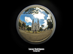 The World is not Enough (Lucas Rodrigues) Tags: blue brazil sky brasil square nikon cathedral catedral vitria fisheye es vix d700