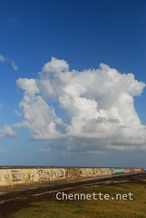 Sea Wall and Clouds