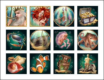 free Triton's Treasure slot game symbols