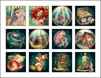 free Triton's Treasure slot game symbols