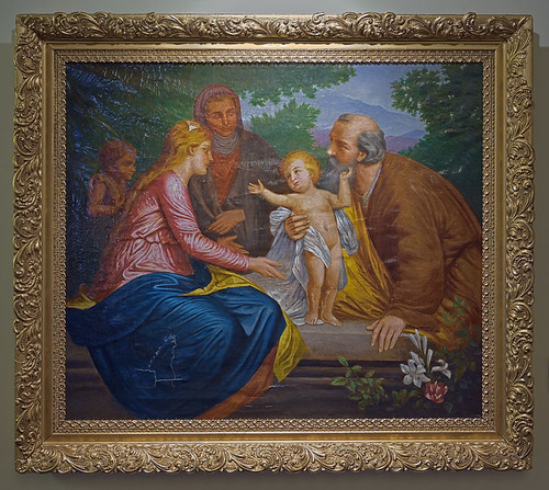 "Oil painting, ""Holy Famly"", unknown painter, ca. 1800, at the Pere Marquette Gallery of the Saint Louis University Museum of Art, in Saint Louis, Missouri, USA"