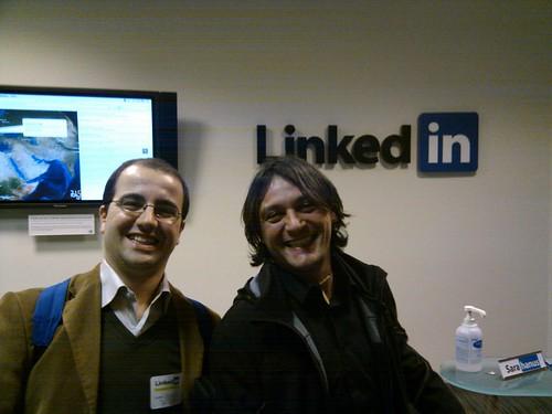 Daniele e Marcello in visita da LinkedIn