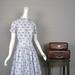 1950s gray leaf print dress by Jo White
