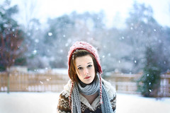 Knit (Kyle Paul Turner) Tags: atlanta portrait woman snow girl face lady canon ga kyle georgia lens eos 50mm day photographer bokeh sister atl emma young f18 18 flakes blizzard turner ef xti 400d snowkeh snokeh