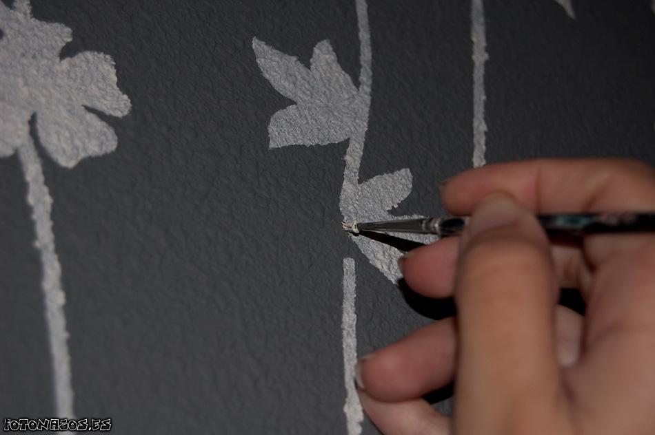 Poner papel sobre gotele good vinilo sobre gotele with - Se puede poner papel pintado sobre gotele ...