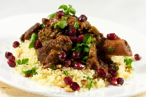 Pomegranate & date lamb tagine, 2 thumbs up!, Recipe by Pigpigscorner ...