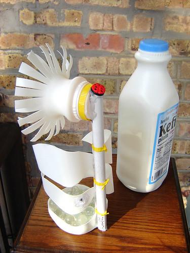 """""""White Flower"""" made from plastic milk bottle ~ 6 of 7 photos"""