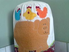porquinho lindo!! (Dipano Ateli) Tags: de galinha pano patchwork prato cozinha jogos tecido aplicao apliqu dipano