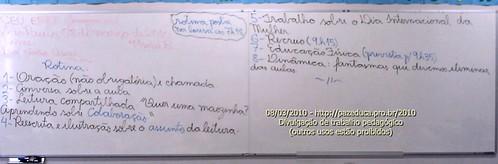 Rotina Prevista - 08/03/2010