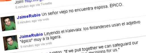 Tweet de Jaime Rubio sobre el Kalevala