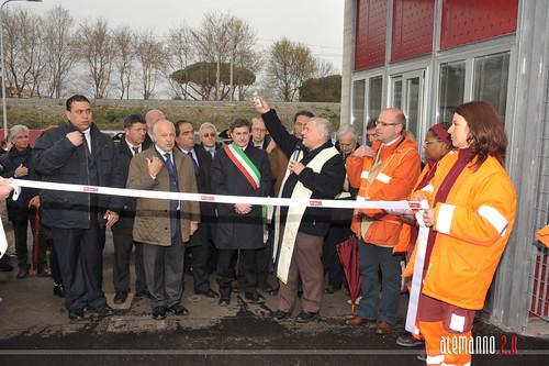 Inaugurazione centro di raccolta AMA di Acilia