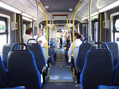 interior of a new BRT vehicle in Minnesota (by: Bill Roehl,  creative commons license)