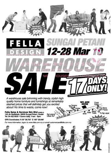 12 - 28 Mar: Fella Design Warehouse Sale @ Sg Petani