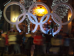 Busy Rings (5518 Designs) Tags: life winter light night vancouver whistler symbol games rings olympic olympics 2010