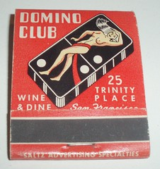 MATCHBOOK DOMINO CLUB SAN FRANCISCO CALIF (ussiwojima) Tags: sanfrancisco california bar club advertising restaurant lounge cocktail matchbook dominoclub matchcover