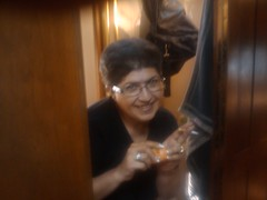 Gina Gaudio-Graves finding Easter Eggs in the RV