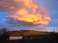 Golden Clouds over the Hill - Landscape Fellbach, Germany (Batikart ... handicapped ... sorry for no comments) Tags: light sunset shadow red sky cloud sun house mountain color colour building tree green art window nature berg weather clouds forest canon germany dark landscape geotagged deutschland gold evening abend vineyard spring twilight flora europa europe sonnenuntergang native hill natur himmel haus formation indians dmmerung geology grn blau eveningsky landschaft sonne baum gebude abendhimmel 2010 frhling weinberg canonpowershot a610 fellbach geologie badenwrttemberg frhjahr swabian canonpowershota610 100faves 50faves viewonblack superaplus aplusphoto batikart