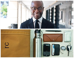 Randall Diptych (J Trav) Tags: portrait pen keys persona diptych phone wallet whatsinyourbag satchel thermos measuringtape businesscardholder glassesholder nikond90 theitemswecarry