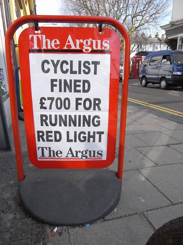 £700 fine for cyclist