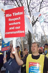 DSC_8433 (Workers in Action) Tags: california london rio 30 workers union protest unite local agm lockout boron tinto shareholders itf ilwu icem