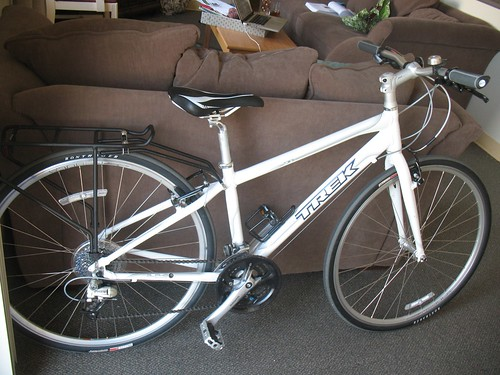 My bike. It has a white frame.