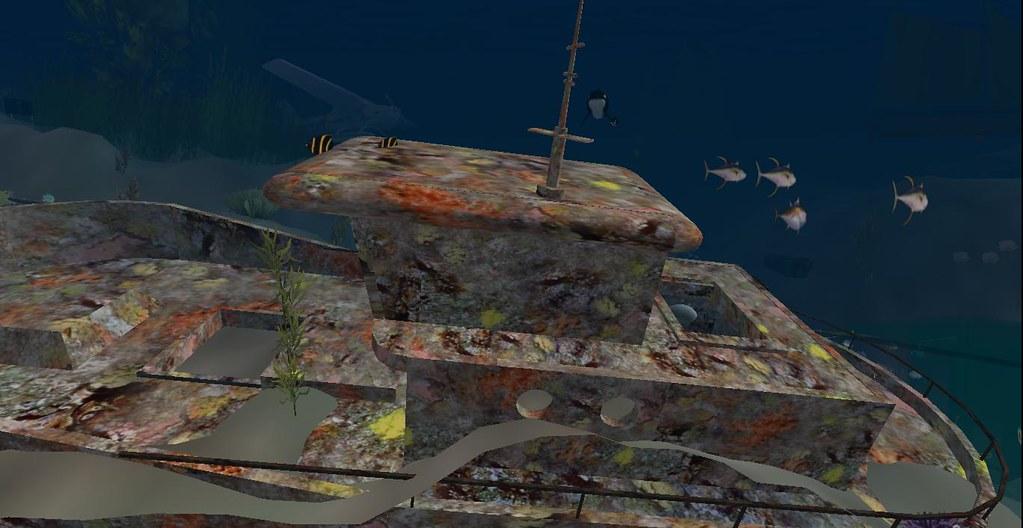 Coral Reef Wreck in Teslin Undersea Preserve