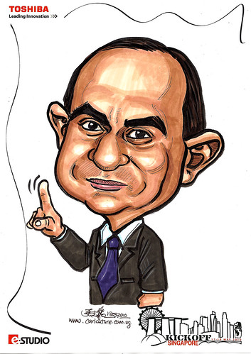 Caricatures for Toshiba - Kickoff Singapore - Asar Tanlak