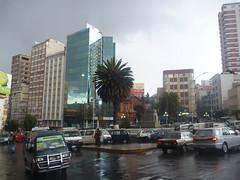 La Paz sous la grêle