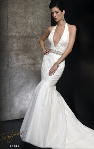neckline halter, Stephen Yearick style 13142, bridal gowns, washington DC