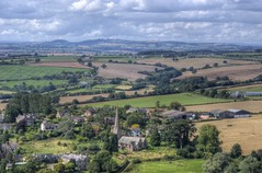 England's Green & Pleasant Land (-andycarr-) Tags: uk england church beautiful rural landscape countryside village unitedkingdom aerial farmland naturereserve fields herefordshire goodrich hereford picturesque hdr wyevalley coppethill welshborders
