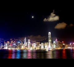 Hong Kong island, August 2009 (Vu Pham in Vietnam) Tags: china hk skyline night hongkong asia nightscape candid nightlight   vu  centralhongkong   canon500d flickrnight  hongkongphotos trungquc trunghoa raininvietnam hkwalk commentwithimageswillbedeletedsosorryforthis