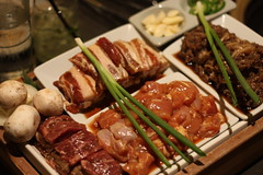 G1 (kalbi, pork belly, chicken, bulgogi)