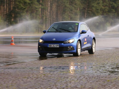 Continental Car Tyres - Winter Driving Safety Testing