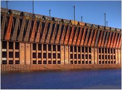 Ore Dock (Blondieyooper) Tags: november blue fall up train warm michigan patterns rusty lakesuperior marquette lsi oredock happyblueskyday