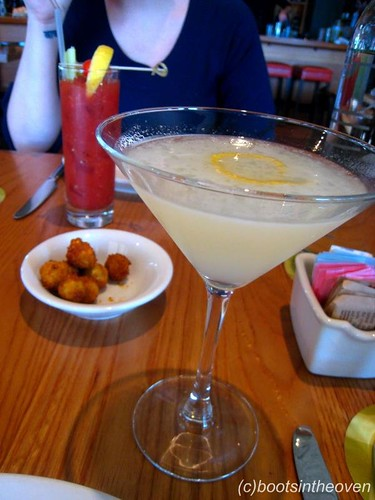 Corpse Reviver #2, FINO Bloody Mary, and Anchovy-stuffed Olives