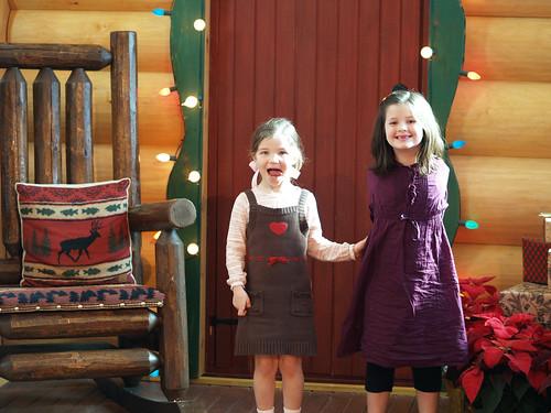 at Santa's door
