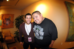 if you guys like comedy, you should know who i'm standing next to. (the half-blood prince) Tags: ass me funny comedy fluffy off fisheye bryan laugh comedian press thehalfbloodprince gabrieliglesias nikkor105mmf28fisheye imnotfatimfluffy