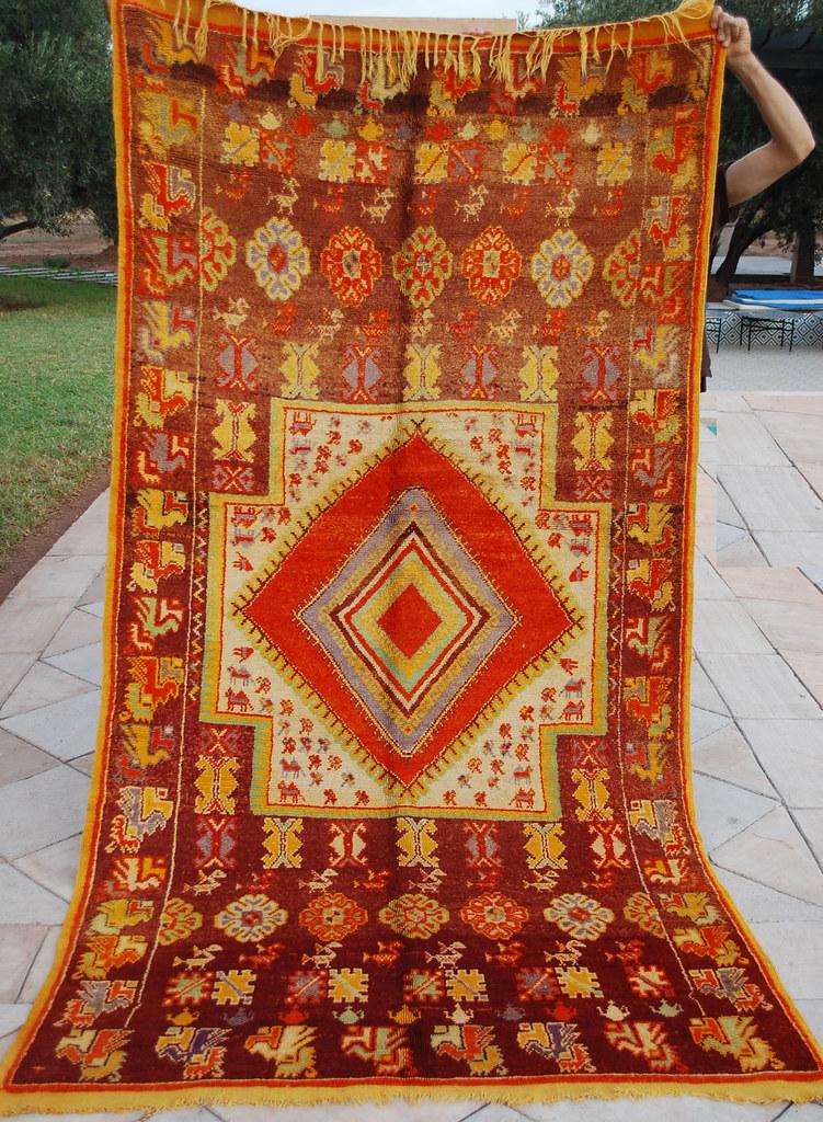 Vintage Moroccan Taznakt Carpet 90