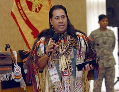 Chief Red Iron Hawk speaks at Fort Belvoir