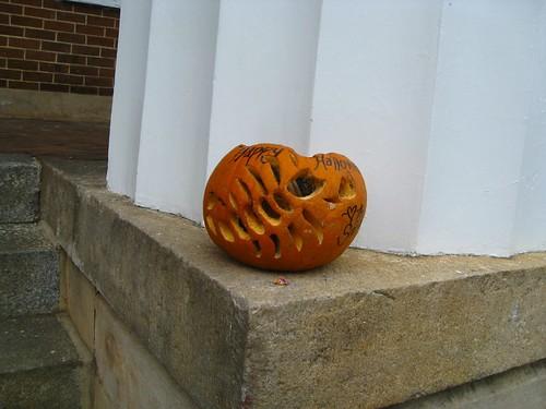 Pumpkin scorpion at Salem College