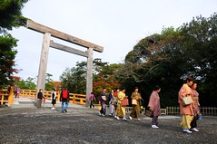 Obachans in Kimonos, Inner Shrine, Ise Jingu