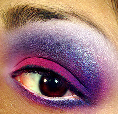 Miss Violetta (kyuubified) Tags: pink macro eye make up closeup close purple violet makeup