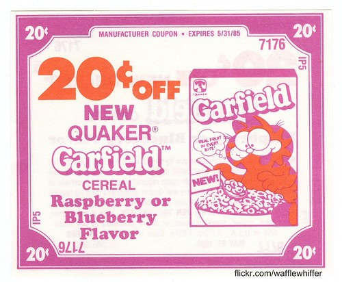 Garfield Cereal - 1985