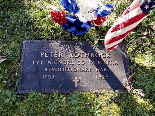Peter Rothrock Civil War marker