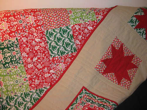 funky christmas quilt backing